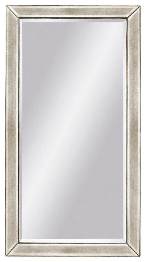 floor mirror in antique silver painted finish beveled edges contemporary floor mirrors