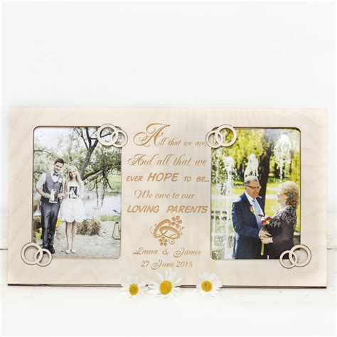 Wedding Gift Photo Frame by Parent Wedding Gift Personalised Photo Frames By Wooden