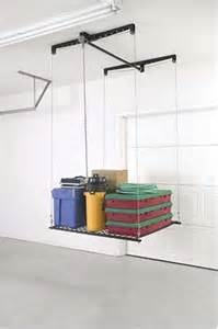 garage ceiling storage lift racor heavy duty cable lift storage rack overhead ceiling