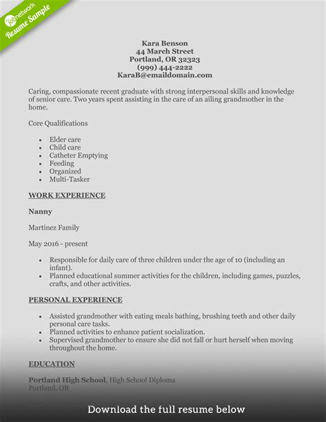 Exle Of A Aide Resume How To Write A Home Health Aide Resume Exles Included