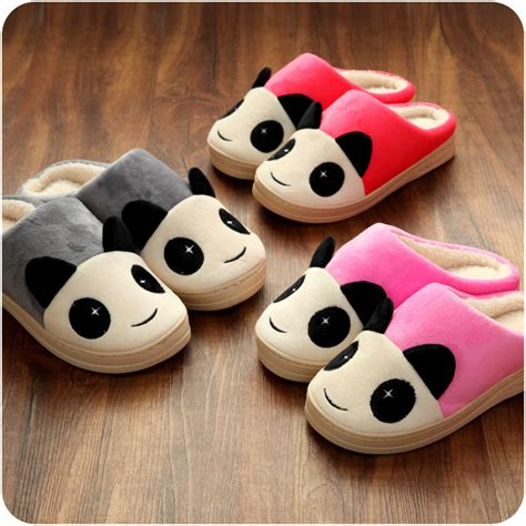character house shoes winter kawaii home cute adult character slippers lovers house shoes thermal stuffed animal fuzzy