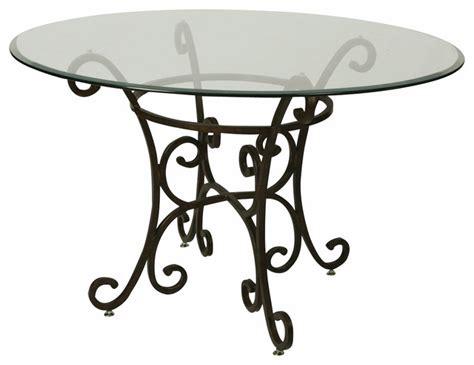 Pastel Magnolia 48 Inch Round Bevel Glass Dining Table In 48 Inch Glass Dining Table