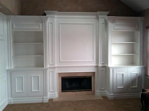 diy built in bookcases around fireplace custom mantels bookshelves fireplaces