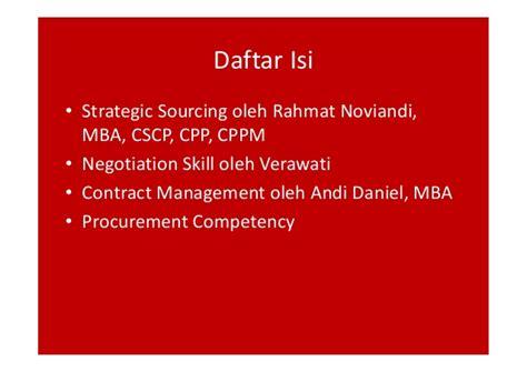 Mba Procurement And Contract Management by Meningkatkan Kompetensi Profesional Procurement Dalam