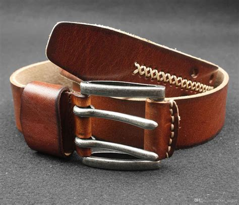 mens 2 holes dress casual leather belt 2prong
