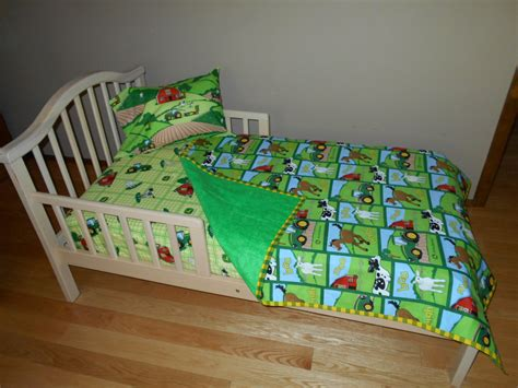 John Deere Fabric Toddler Crib Bedding Tractor Farm Animal Deere Crib Bedding