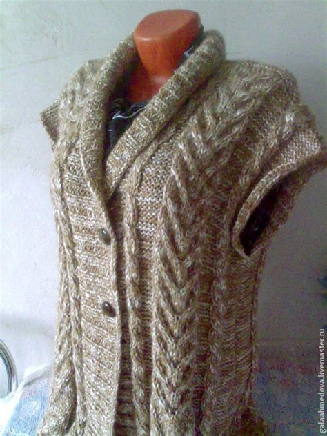 Handmade Knitting - warm knit vest quot so dushegreyku quot handmade shop on