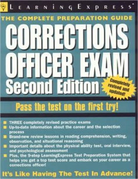 Correctional Officer Test by Corrections Officer By Staff Of The Learning Express