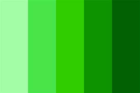 green colour shades shades of green color palette