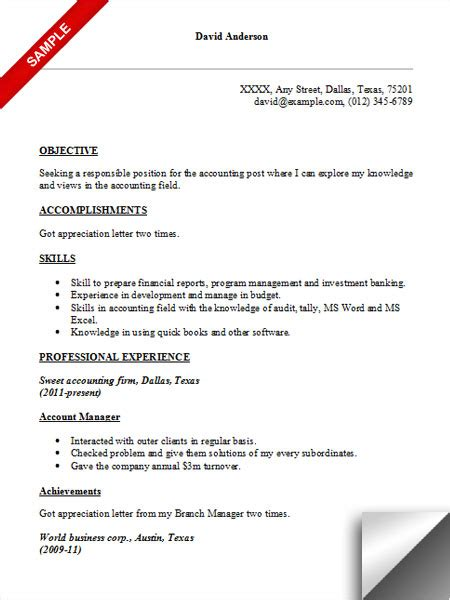 Sample Resume Objectives Accounting by Page Not Found The Perfect Dress