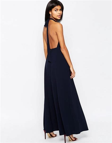 asos asos open back maxi dress