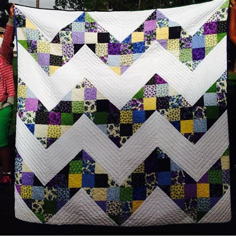 Sewn Patchwork Quilt - tutorial size patchwork chevron quilt home sewn by us
