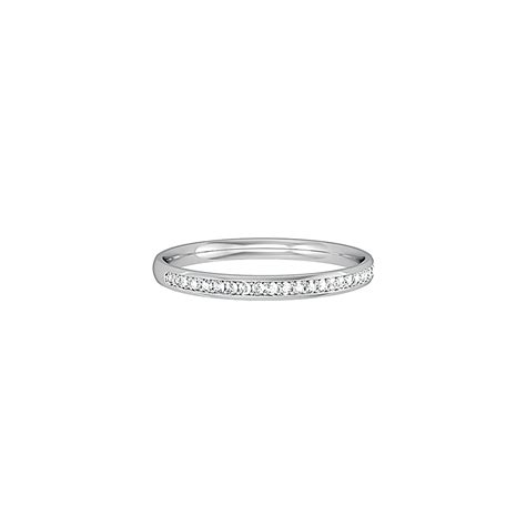 9ct white gold set 2mm eternity ring from bensons