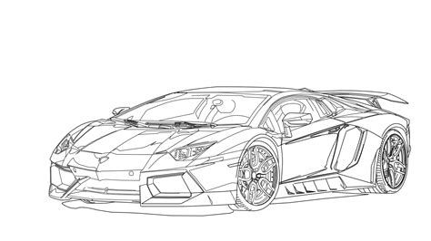 lamborghini aventador drawing lamborghini clipart line drawing pencil and in color