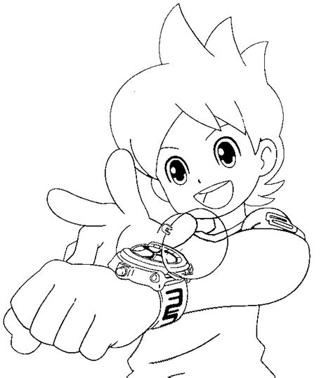 yo kai watch coloring page coloriage yo kai watch nathan adams 11