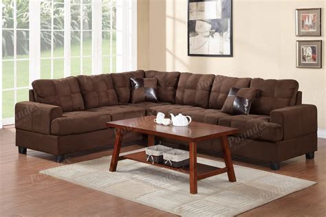 chocolate sectional microfiber 2 pc reversible loveseat