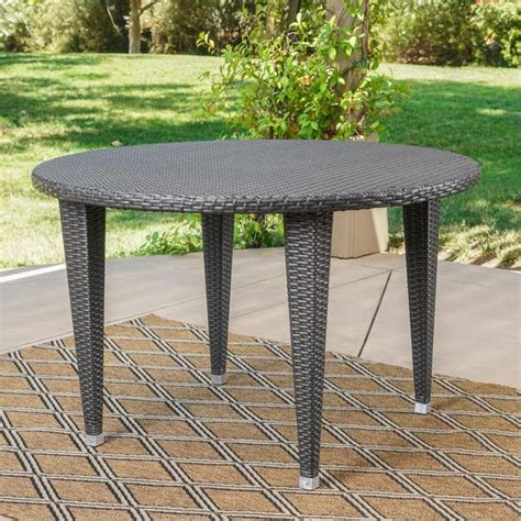 best selling home decor dominica outdoor square wicker d 250 nedain outdoor wicker dining table gdf studio
