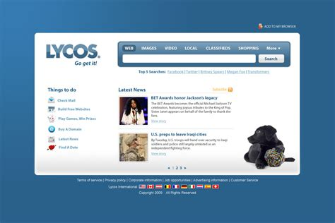 Lycos Search Some Somple Search Engines Tut2learn