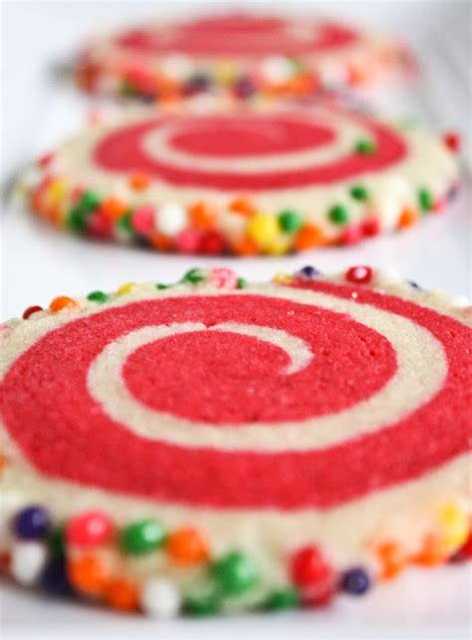 colorful cookies colorful spiral cookies sprinkle bakes