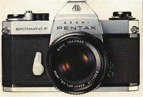 Pentax Spotmatic F Kamera Analog image gallery manual