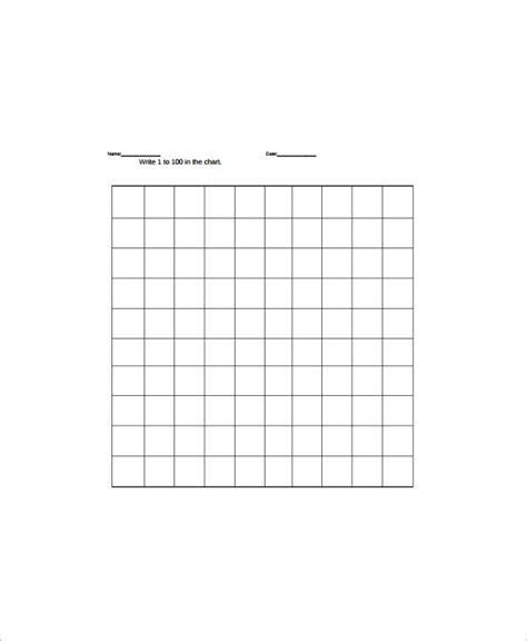 sample hundreds chart templates sample templates