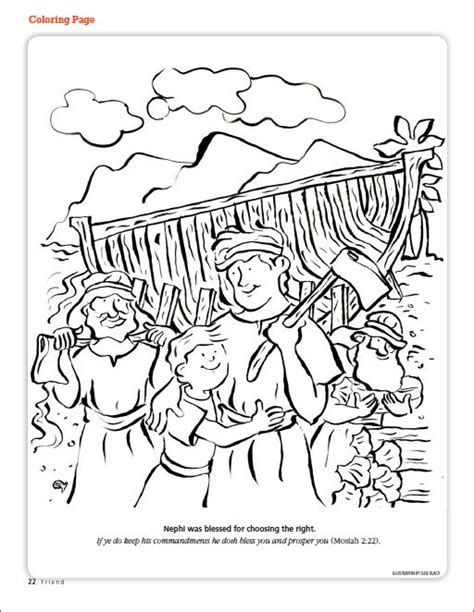 choose the right coloring page 1000 images about lds nephi on