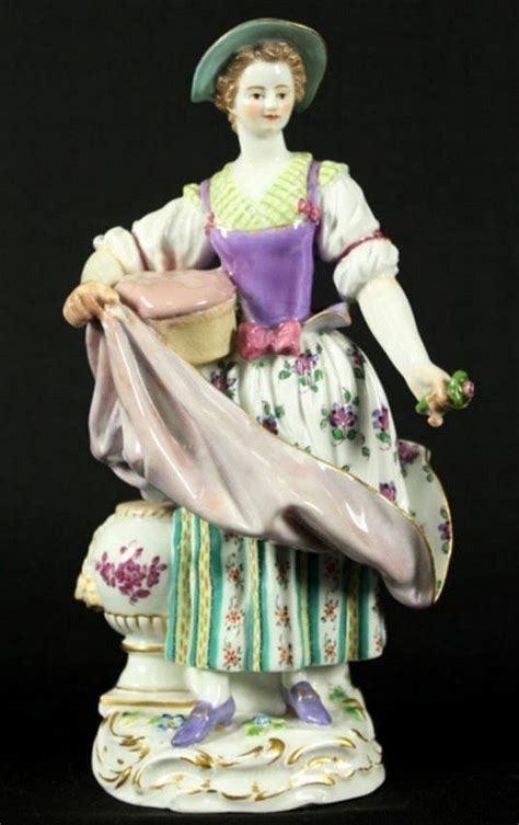 selection of meissen figurines set for antique sale
