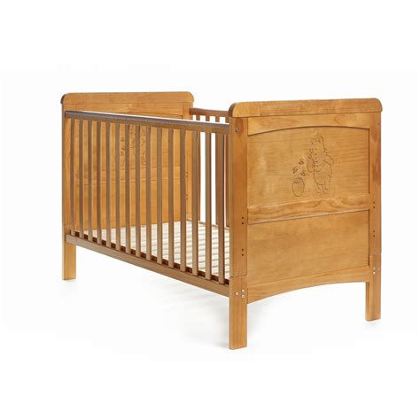 bed cot disney winnie the pooh deluxe cot bed country pine