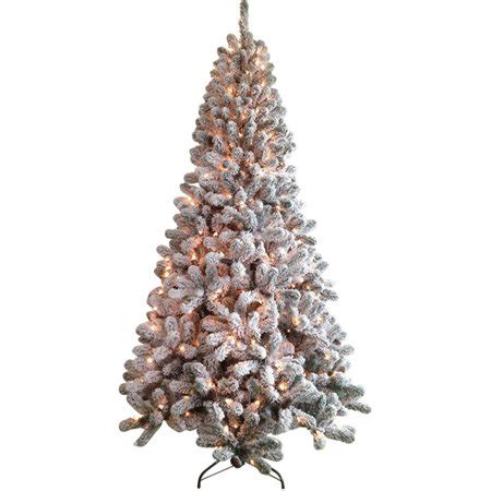 artificial christmas trees at wal mart time pre lit 7 5 flocked artificial tree clear lights walmart