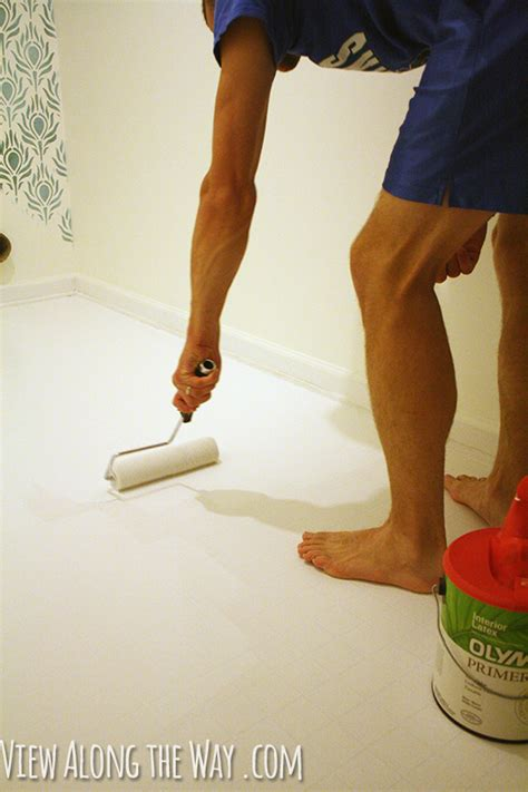 How To Remove Paint From Vinyl Floor by How To Paint Vinyl Or Linoleum Sheet Flooring