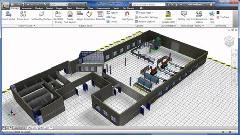 layout autocad 3d 3d visual layout with factory design suite youtube