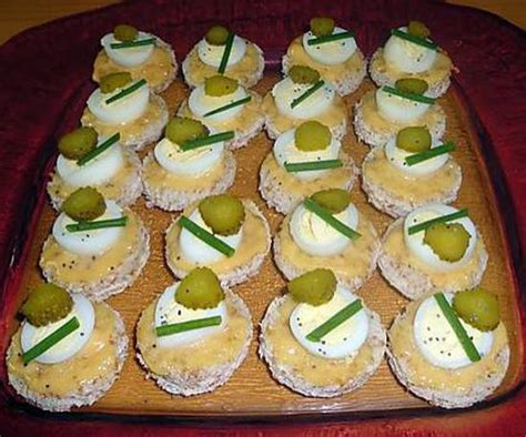 recettes de canap駸 recette de canap 201 s aux oeufs de caille