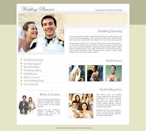 wedding site templates free free wedding website templates