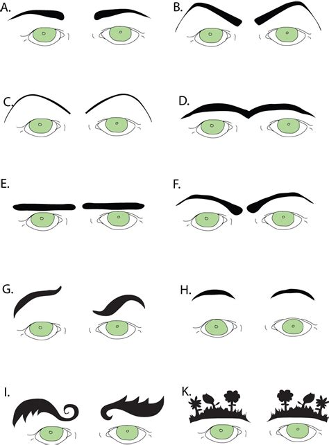 printable eyebrow patterns rice n three