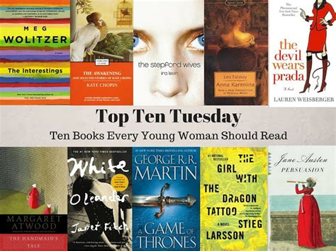 Top 10 Books Every Should Read by 500 Books Top Ten Tuesday Ten Books Every
