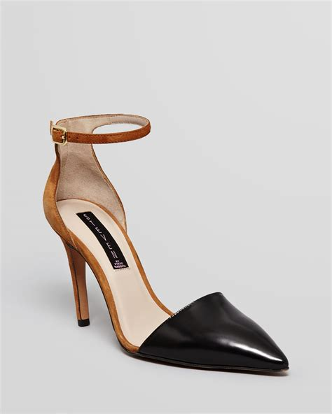 Steve Madden Pumps by Steven By Steve Madden Pointed Toe Pumps Anibell 2 Tone High Heel In Gray Black Multi Lyst