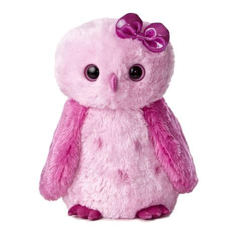 owl stuffed animal girlz nation pink stuffed snowy owl by aurora at stuffed