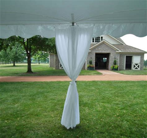 tent drapes elite tent pole drapes