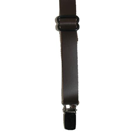 12 inch wide end kids smooth leather 75 inch wide clip end suspenders by