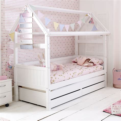 flexa nordic kids house bed frame   white kids avenue