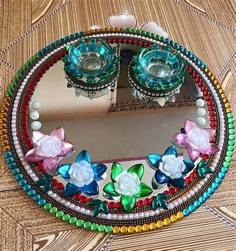 decorative aarti thali pictures get diy aarti thali ideas for diwali decorate pooja thali