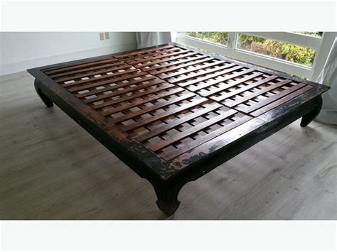 asian platform bed antique asian style platform bed king size saanich victoria