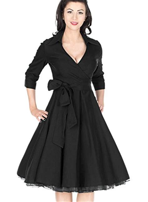 swing dresses online miusol women s deep v neck classical bow belt vintage