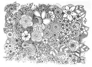 flower doodle flower doodle coloring pages in a floral dress