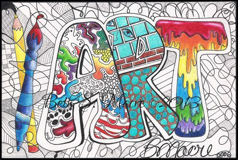 doodle pen name color digital digital print pen and ink