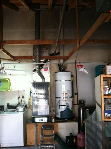 House Furnace In Garage by American Standard Furnace Up Flow In Garage With Whole