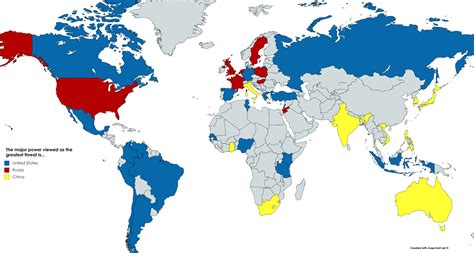 map  countries   major power