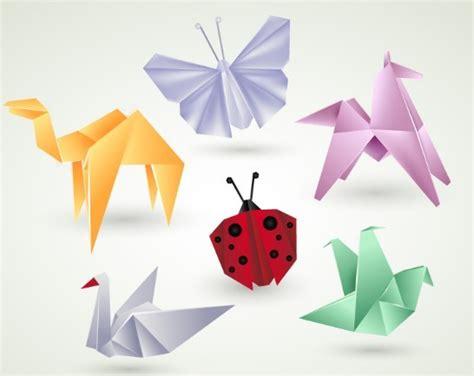 Colorful Origami - free vector colorful origami animals titanui