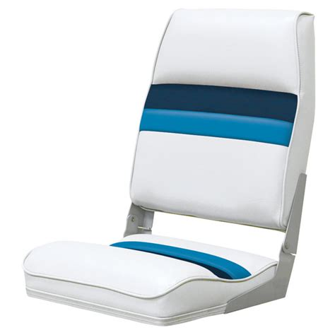 wise seating wise seating fold seat white navy blue west marine