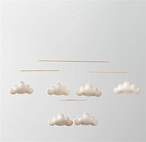 cloud mobile wool felt cloud mobile